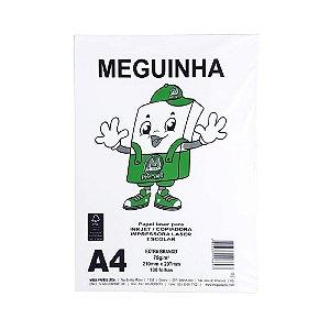 Folha Sulfite A4 100 folhas Meguinha