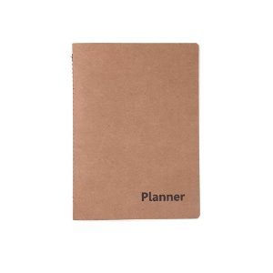 Planner Agenda Mensal 14 folhas Kraft 647024 Kit