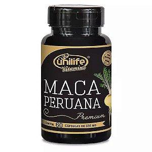 Maca Peruana Premium 550mg 60 Cápsulas - Unilife