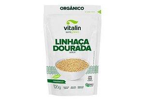Linhaça Dourada em Grãos Orgânica 120g - Vitalin