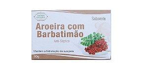 SABONETE ANTISSÉPTICO NATURAL DE AROEIRA COM BARBATIMÃO (CRAVOS E ESPINHAS) - LIANDA 90G
