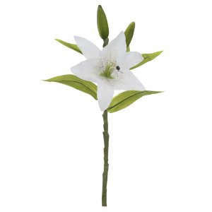 Lírio Real Toque 37cm - Branco