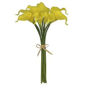 Buquê Copo de Leite (8 Hastes) 34cm - Amarelo