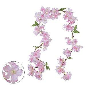 Guirlanda de Flores 1,73m - Rosa Claro