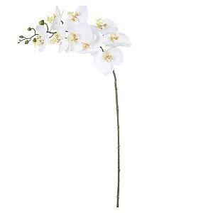Orquídea Phalaenopsis Real Toque (Haste com 9 Flores) 94 cm - Branco Amarelo