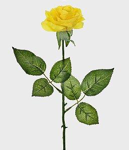 Haste Rosa Real Toque 44cm - Amarelo