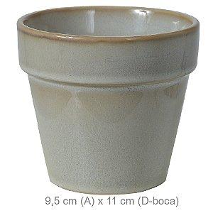 Vaso Cerâmica 9,5cm - Bege