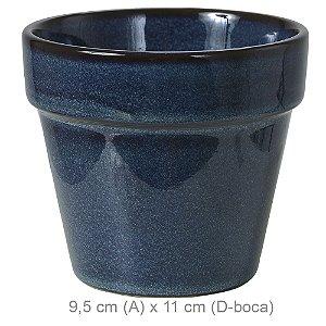 Vaso Cerâmica 9,5cm - Azul