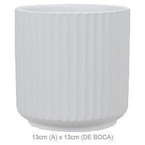 Vaso Cerâmica 13cm - Branco Fosco