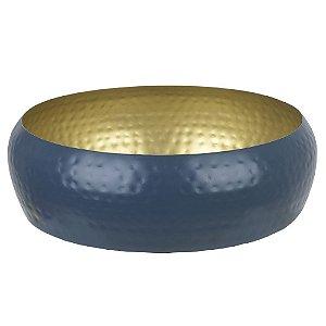 Centro de Mesa em Metal 8cm - Azul Dourado
