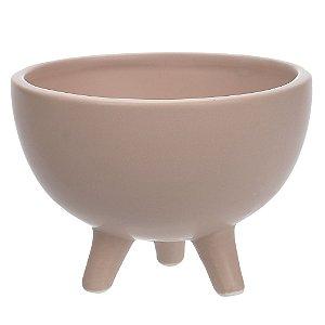 Vaso Cerâmica com Pé 8cm - Rosa