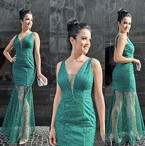 Vestido De Festa Verde musgo
