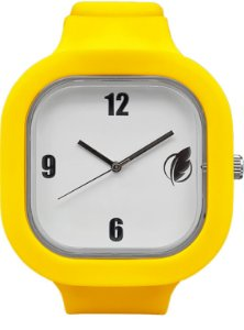 Relógio Branco / Amarelo