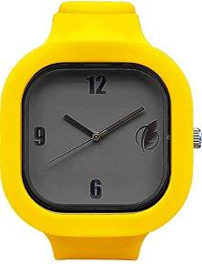 Relógio Cinza / Amarelo