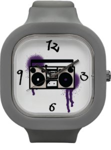 Relógio BoomBox - Cinza