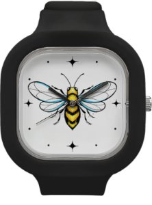 Relógio Abelha - Preto