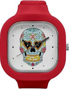 Relógio Caveira Mexicana - Marsala