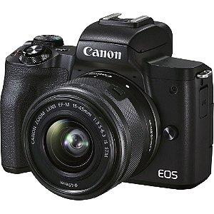 Canon EOS M50 Mark II Mirrorless + Lente 15-45mm STM