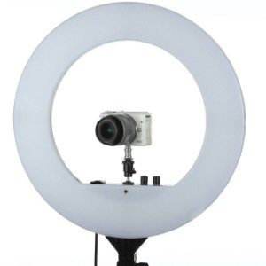 Led  Equifoto Circular - PLH-480L 18 50W 480 LEDs - com fonte de alimentação (3200 a 5600K) + Tripé de 2 metros