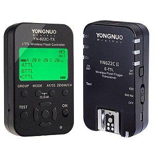 Kit Rádio Flash Yongnuo YN-622C TX + YN-622C II E-TTL (para Canon)
