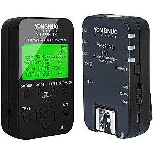 Kit Rádio Flash Yongnuo YN-622N TX + YN-622N II i-TTL (para Nikon)