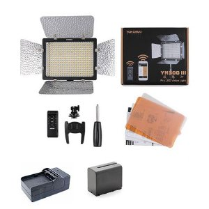 LED Yongnuo YN-300 III + Bateria + Carregador