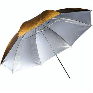 Sombrinha Rebatedora Reversível Greika 91cm - Dourada e Prateada