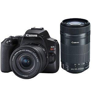 Canon EOS Rebel SL3 (250D) Kit Premium (Lente 18-55mm STM e 55-250mm STM)