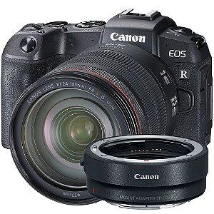 Canon EOS RP + Lente RF 24-105mm f/4L IS USM + Adaptador para Lentes EF e EF-S