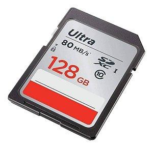 Cartão de Memória SanDisk 128GB SDXC Ultra Classe 10 - 80mb/s