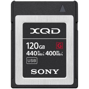Cartão de Memória Sony 120GB XQD Série G - 440/400mb/s