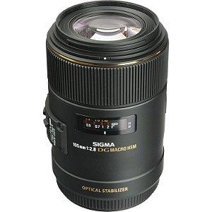 Lente Sigma 105mm f/2.8 EX DG OS HSM Macro (para Canon)