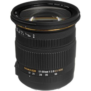 Lente Sigma 17-50mm f/2.8 EX DC OS HSM (para Canon)