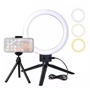"LED Circular de mesa RL7 - 7"" (18cm) 10W - Cor variável (2700K a 5500K)"