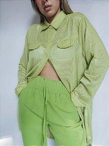 Calça com Elástico Verde