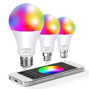 Lâmpada Led Bluetoh RGB Pro