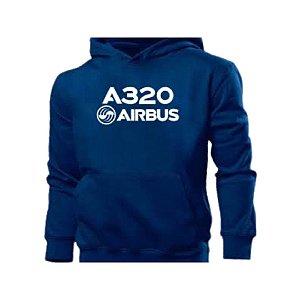 Moletom A320 Airbus azul marinho