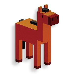 Placa Decorativa Pixel Cavalo