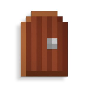 Placa Decorativa Pixel Porta
