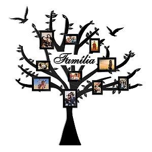 Árvore de Fotos Familia Em MDF Pintado - 10 Fotos