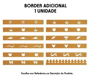 Border Unitário Avulso Pintado ou Cru