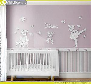 Painel decorativo para quarto de bebê - Tema Bailarina MDF