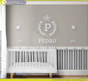 Painel decorativo para quarto de bebê - Tema Real MDF