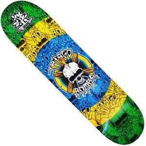 Shape Long Board Pro Model Thiago Bomba Caveira Brasil