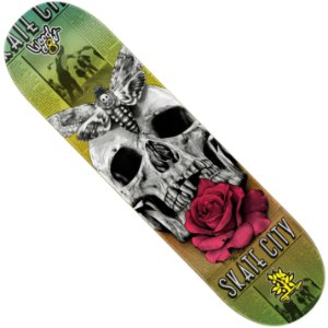 Shape Wood Light Eight Skate City Skull Flower (LIXA GRÁTIS)