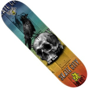Shape Wood Light Eight Skate City Skull Crow (LIXA GRÁTIS)