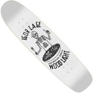 Shape Long Board Wood Light Pro Model Igor Lage Crazy Beer and Barbecue White