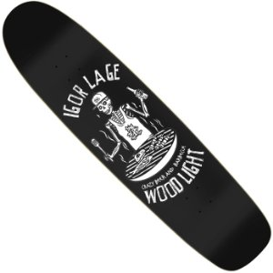 Shape Longboard Wood Light Pro Model Igor Lage Crazy Beer and Barbecue Black