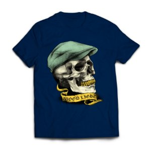 Camiseta Wood Light Skull Hat Azul Marinho