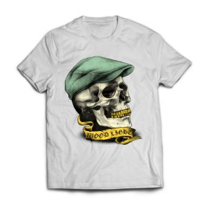 Camiseta Wood Light Skull Hat Branca